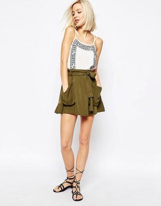 Vero Moda Pocket Detail Short Skirt