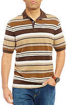 Daniel Cremieux Sonoran Trails Stripe Textured Short-Sleeve Polo Shirt
