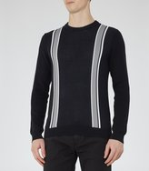 Reiss Will - Stripe Crew-neck Jumper in Blue, Mens