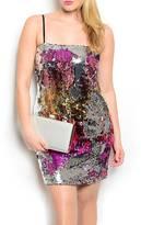 Finesse Plus Multi Sequin Dress
