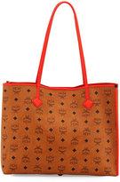 MCM Kira Medium Visetos Shopper Shoulder Tote Bag, Cognac