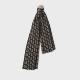 Paul Smith Women's Paisley And Stripe Wool-Cashmere Double Sided Scarf