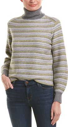 Vince Fairisle Wool & Cashmere-Blend Sweater