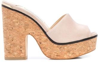 Jimmy Choo Deedee 125mm sandal wedges