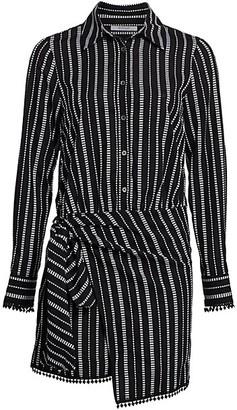 Derek Lam 10 Crosby Eunice Stripe Shirtdress