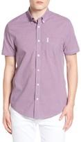Ben Sherman Men's Mini House Gingham Modern Fit Short Sleeve Shirt
