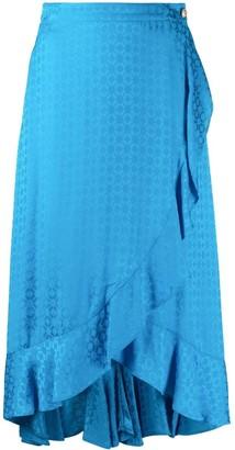 Pinko Geometric-Print Ruffled Skirt