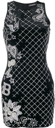 Balmain Bead And Sequin-Embellished Mini Dress