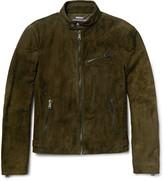 Ralph Lauren Purple Label Randall Suede Biker Jacket