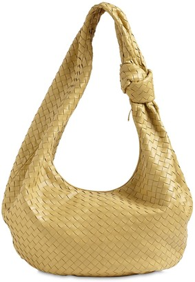 Bottega Veneta Maxi Jodie Woven Leather Hobo Bag
