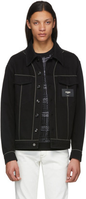 Fendi Black Denim Patch Jacket