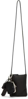 Y's Ys Black Ring Pochette Shoulder Bag