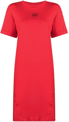 HUGO BOSS logo patch T-shirt dress
