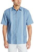 Cubavera Men's Short Sleeve Panel Woven Shirt