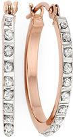 JCPenney FINE JEWELRY Diamond Fascination 14K Rose Gold Round Hoop Earrings