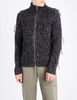 Maison Margiela Fringed wool-blend cardigan