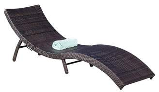 Christopher Knight Home Acapulco Wicker Folding Chaise Lounge - Multibrown