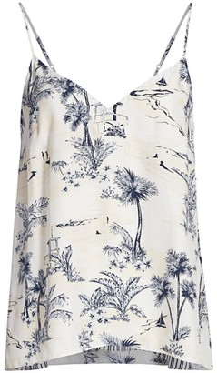 Frame Mixed Toile Printed Silk Camisole