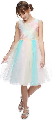 Bonnie Jean Girls 7-16 Metallic Rainbow Dress