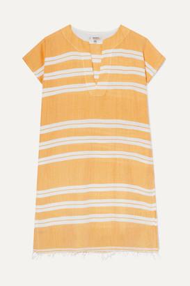 Lemlem Net Sustain Doro Frayed Striped Cotton-blend Gauze Tunic - Yellow