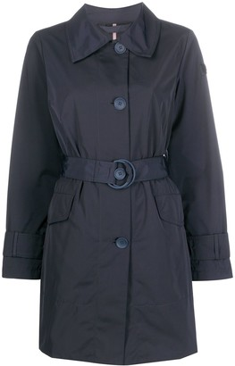 Peuterey Single-Breasted Belted Coat