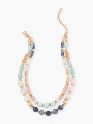 Talbots Double Strand Mixed Bead Necklace