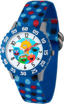 Sesame Street Blue Polka Dot Friends Time Teacher Strap Watch W003179