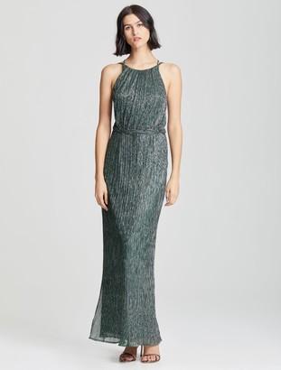 Halston Braided Waist Gown