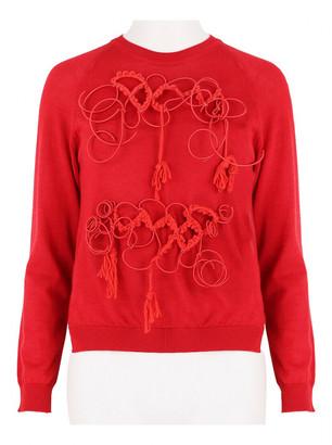 Simone Rocha Red Wool Knitwear