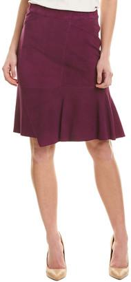 Elie Tahari Leather Pencil Skirt