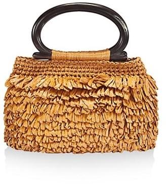 Carolina Santo Domingo Raffia Top Handle Bag