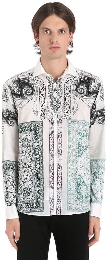 Etro Bandana Print Fluid Cotton Muslin Shirt