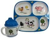 Baby Cie Farm Animals, Melamine Plate & Sippy Cup - 2 Piece Set