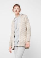 MANGO Textured Cotton Cardigan