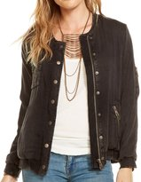 Chaser Women's Heirloom Woven Deconstructed Utility Jacket - Black