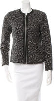 Rebecca Taylor Lace Patterned Leather-Trimmed Jacket w/ Tags