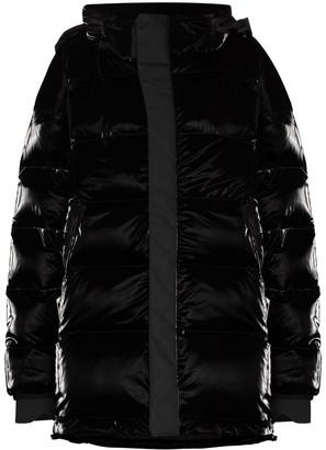 TEMPLA Gloss zip-up puffer jacket
