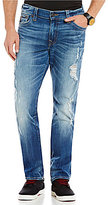 True Religion Geno Distressed Slim Straight Jeans