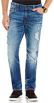 True Religion Geno Distressed Slim Straight Jeans