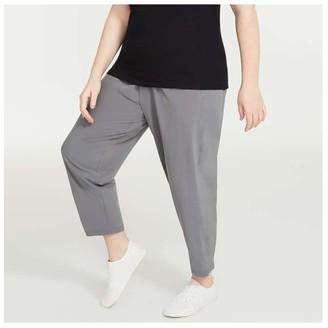 Joe Fresh Women+ Four-Way Stretch Pants, Slate Grey (Size 1X)