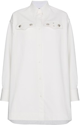 Calvin Klein Oversized shirt with silver buttons