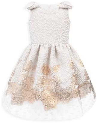 David Charles Little Girl's Sleeveless Embroidered Dress