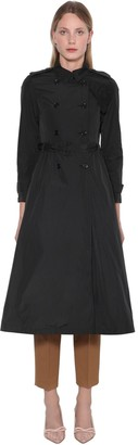 RED Valentino A-line Taffeta Trench Coat