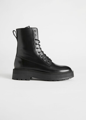 And other stories Chunky Platform Leather Boots
