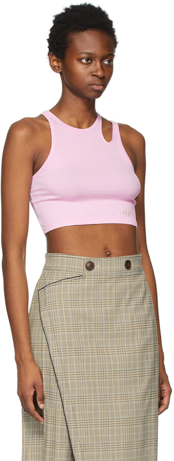 Thumbnail for your product : Sjyp Pink Cropped Tank Top