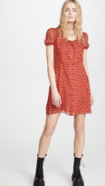 R 13 Front Button Up Babydoll Dress