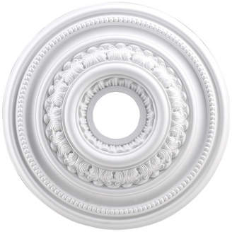 STUDY Elk Lighting English Medallion 18 Inch, White Finish