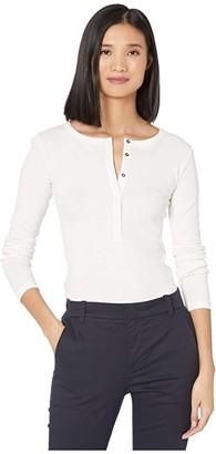 Vince Long Sleeve Henley (Coastal) Women's Clothing
