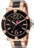Betsey Johnson Women's Quartz Stainless Steel and Alloy Casual Watch, Color:Rose Gold-Toned (Model: BJ00459-08)
