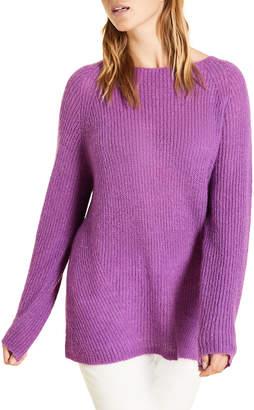 Marina Rinaldi Plus Size Crewneck Raglan-Sleeve Mohair Sweater